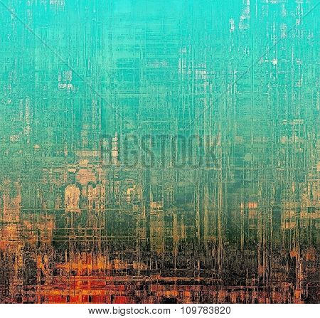 Old texture as abstract grunge background. With different color patterns: yellow (beige); red (orange); black; blue