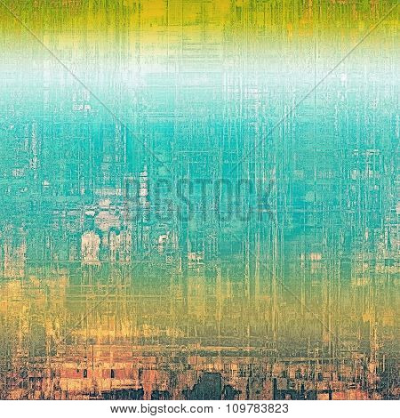 Retro background with grunge texture. With different color patterns: yellow (beige); brown; blue; white