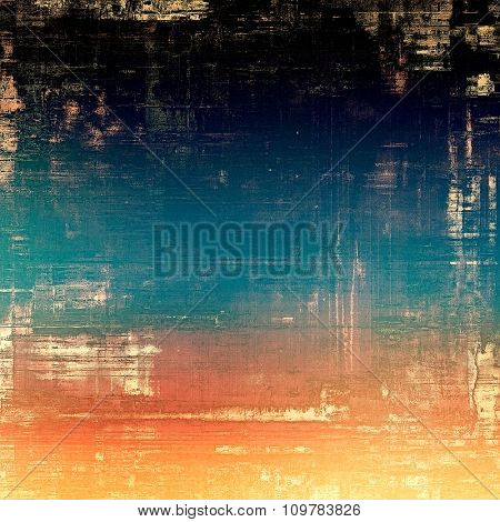 Vintage old texture with space for text or image, distressed grunge background. With different color patterns: yellow (beige); red (orange); black; blue
