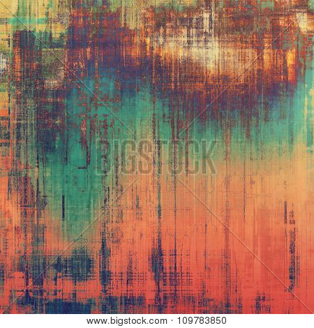 Antique vintage texture or background. With different color patterns: yellow (beige); red (orange); blue; purple (violet)