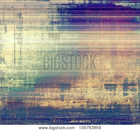 Abstract blank grunge background, old texture with stains and different color patterns: yellow (beige); blue; purple (violet); cyan