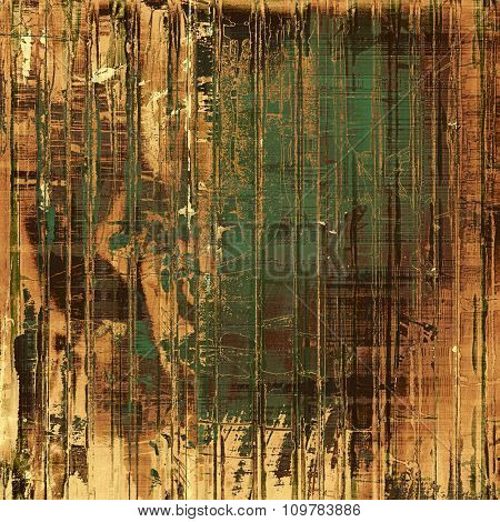 Old antique texture - perfect background with space for your text or image. With different color patterns: yellow (beige); brown; black; green