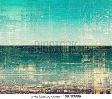 Designed background in grunge style. With different color patterns: yellow (beige); brown; blue; green