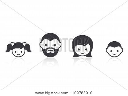 Family Members Face Icons