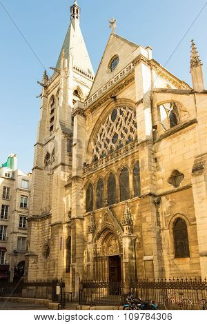 The Church Of  Saint Severin, Paris, France.