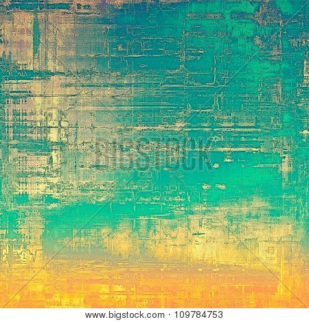 Antique vintage texture or background. With different color patterns: yellow (beige); brown; blue; green