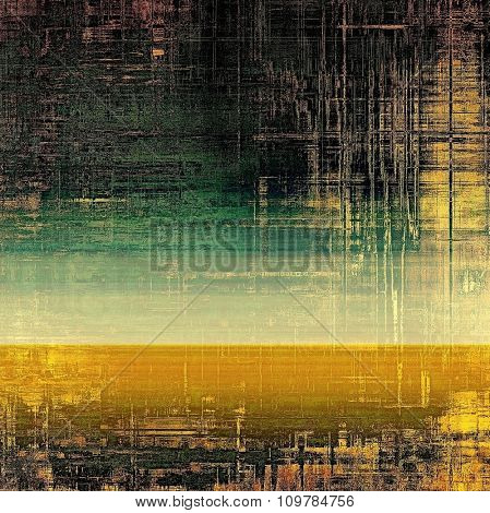 Grunge colorful background or old texture for creative design work. With different color patterns: yellow (beige); brown; black; green