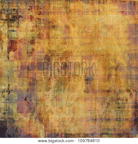 Abstract old background with rough grunge texture. With different color patterns: yellow (beige); brown; gray; pink