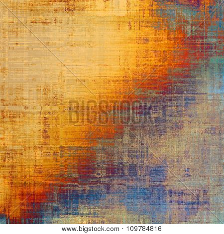 Abstract textured background designed in grunge style. With different color patterns: yellow (beige); brown; red (orange); blue