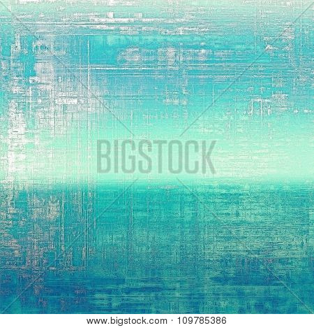 Old designed texture as abstract grunge background. With different color patterns: blue; cyan; white