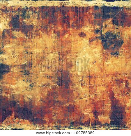 Old designed texture as abstract grunge background. With different color patterns: yellow (beige); brown; red (orange); black
