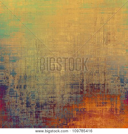 Old grunge template. With different color patterns: yellow (beige); red (orange); blue; purple (violet); green