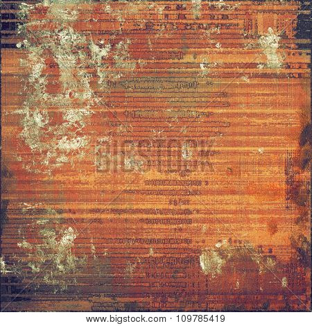 Old and weathered grunge texture. With different color patterns: yellow (beige); brown; red (orange); black