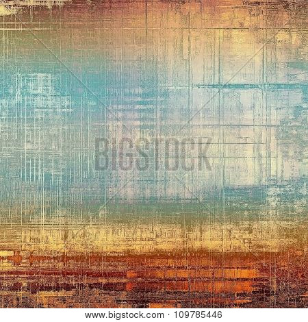 Designed grunge texture or retro background. With different color patterns: yellow (beige); brown; blue; cyan