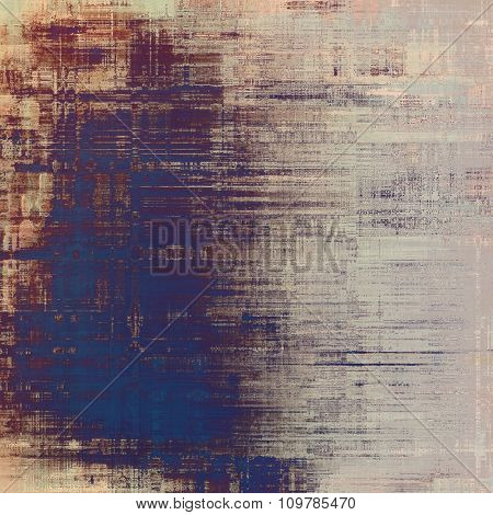 Abstract textured background designed in grunge style. With different color patterns: brown; blue; purple (violet); gray