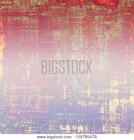 Grunge old texture as abstract background. With different color patterns: yellow (beige); red (orange); purple (violet); pink
