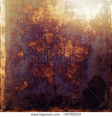 Designed grunge texture or retro background. With different color patterns: yellow (beige); brown; black; purple (violet)