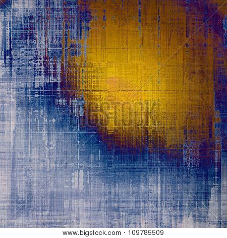 Grunge colorful texture for retro background. With different color patterns: yellow (beige); brown; blue; gray