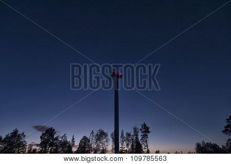 Big dipper and a turbine