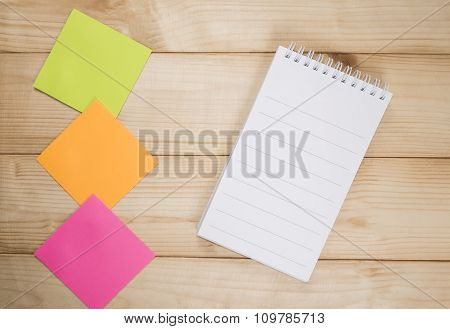 Notebook And Sticky Note