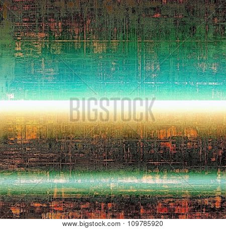Old designed texture as abstract grunge background. With different color patterns: yellow (beige); brown; blue; green