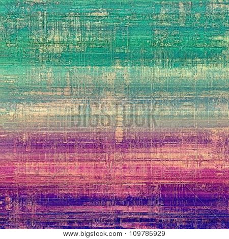 Vintage antique textured background. With different color patterns: blue; purple (violet); green; pink