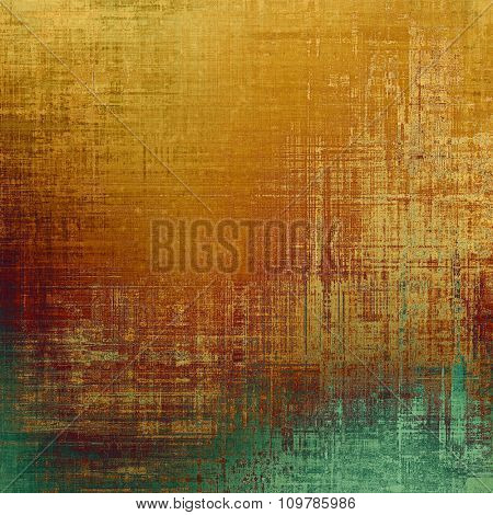 Abstract blank grunge background, old texture with stains and different color patterns: yellow (beige); brown; green