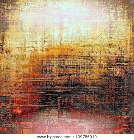 Grunge background or texture for your design. With different color patterns: yellow (beige); brown; red (orange); pink