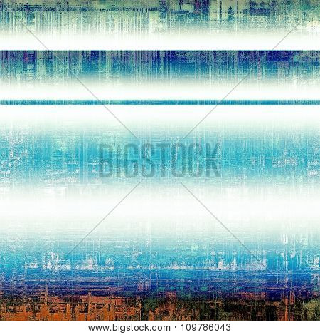 Old designed texture as abstract grunge background. With different color patterns: brown; black; blue; white