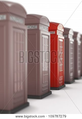 The Red Telephone Box Is Highlighted, Among Many Other