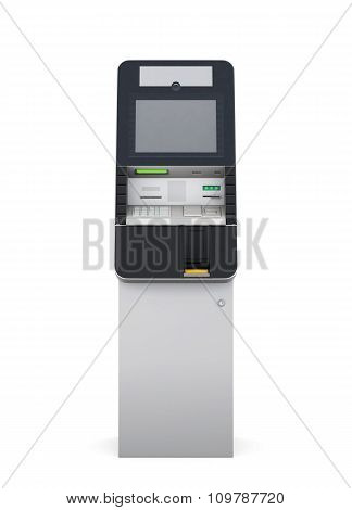 Atm Machine Front View. 3D.