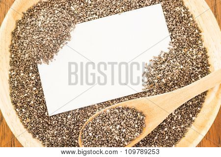 Nutritious Chia Seeds And Business Card