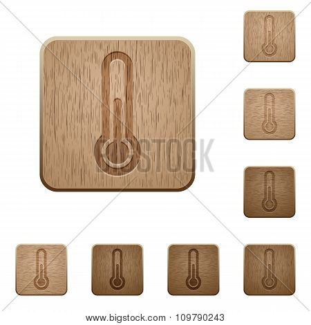 Thermometer Wooden Buttons