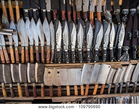 Knifes On Shelf