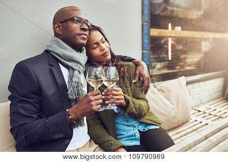 Romantic Loving Couple Enjoy Each Others Company