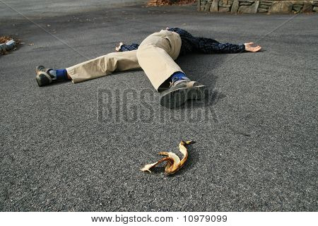 Banana Peel Accident