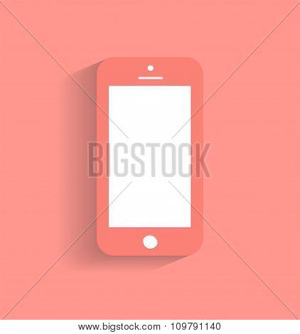 Smartphone icon vector illustration red / Smartphone icon