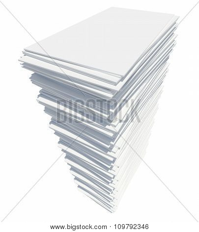 White paper tower