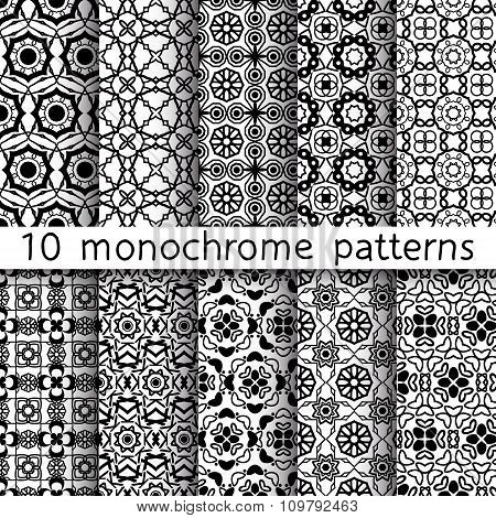 10 Monochrome Vintage Patterns For Universal Background
