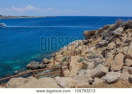 Mediterranean Landscape On A Cape Greco