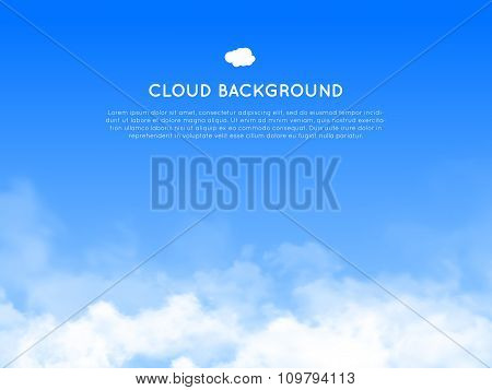 Cloud realistic background