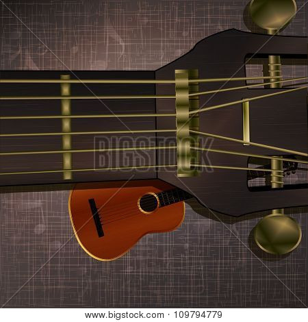 Musical Background Guitar Neck