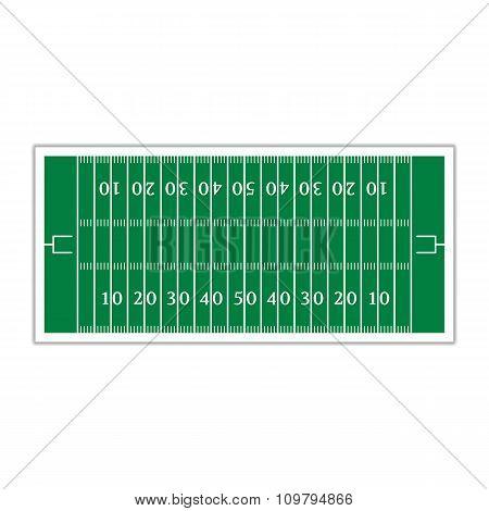 Field For Football, Vector Illustration.