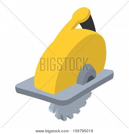 Circular saw shade cartoon icon