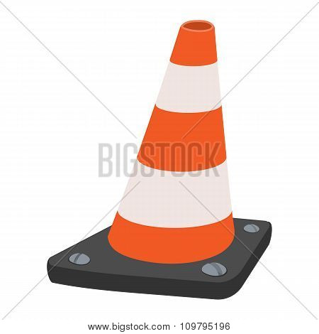 Road traffic orange cartoon cone