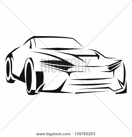 Car silhouette line icon