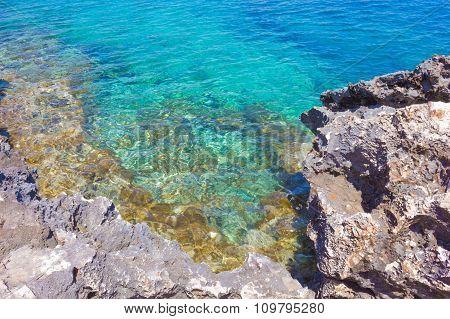 Rocky Beach On A Cape Greco