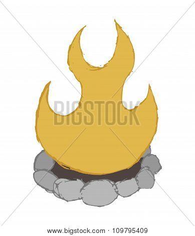 Cartoon sketch campfire clip art