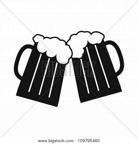 Two glasses or beer mugs