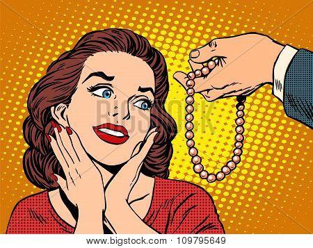 Gift woman jewelry beads
